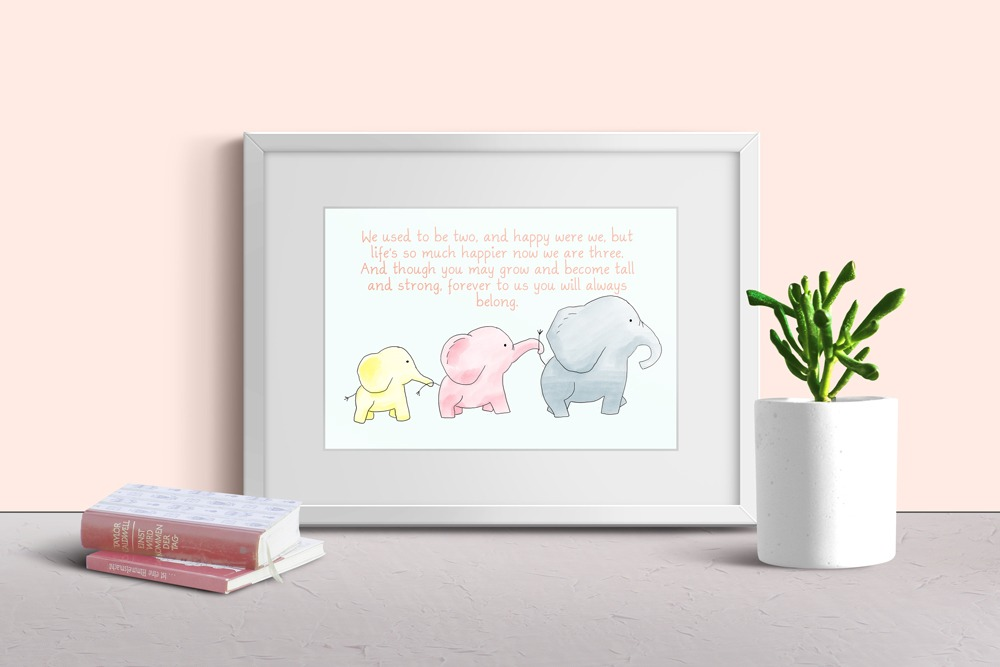 Baby Elephants Print